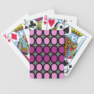 Gray and Purple Splash of O's Bicycle Playing Cards