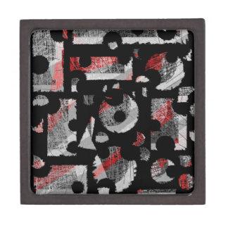 Gray and red abstraction keepsake box