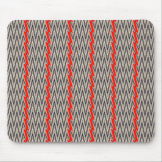Gray and red chevron design mouse pad