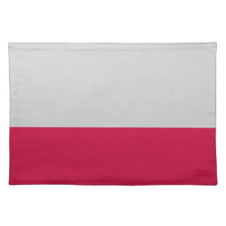 Gray and Red Placemat Cloth Placemat