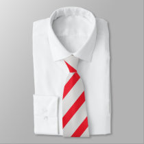 Gray and Scarlet Diagonally-Striped Tie