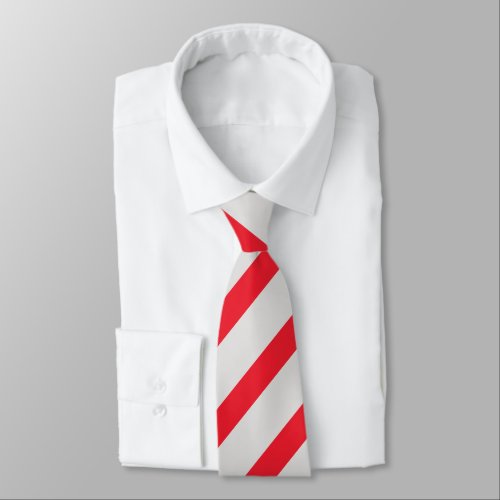 Gray and Scarlet Diagonally-Striped Tie