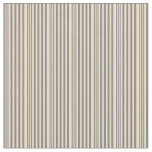 [ Thumbnail: Gray and Tan Colored Stripes Pattern Fabric ]