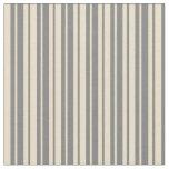 [ Thumbnail: Gray and Tan Stripes Fabric ]