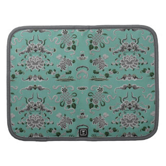Gray and Teal Flowers and Shapes Organizer