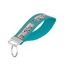 Gray and Teal Instagram Photo Collage Monogram Wrist Keychain