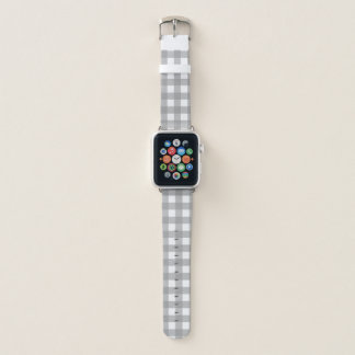 Gray and White Buffalo Check Apple Watch Band