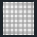 """Gray and White Buffalo Check Bandana<br><div class=""""desc"""">This cute bandana is the perfect accessory for you,  your child or your favorite dog.</div>"""