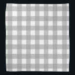 "Gray and White Buffalo Check Bandana<br><div class=""desc"">This cute bandana is the perfect accessory for you,  your child or your favorite dog.</div>"