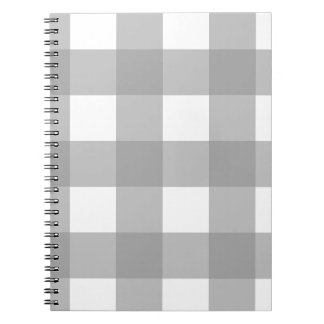 Gray and White Buffalo Check Notebook