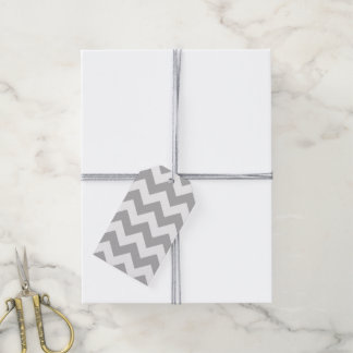 Gray and White Chevron Pack Of Gift Tags