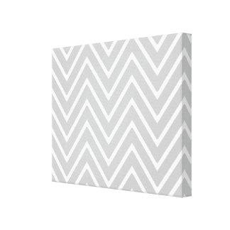 Gray and White Chevron Pattern 2 Canvas Print