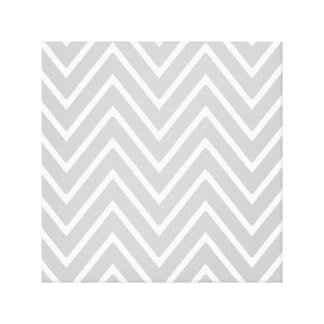 Gray and White Chevron Pattern 2 Stretched Canvas Prints