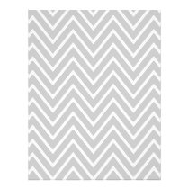 Gray and White Chevron Pattern 2 Flyer