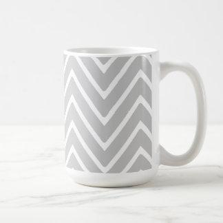 Gray and White Chevron Pattern 2 Coffee Mug