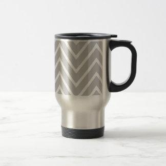 Gray and White Chevron Pattern 2 Mug
