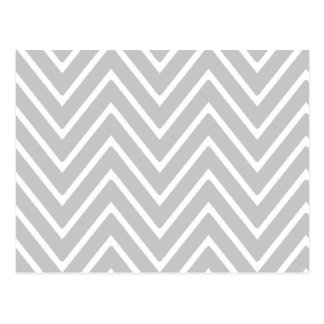 Gray and White Chevron Pattern 2 Post Cards