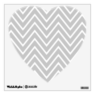 Gray and White Chevron Pattern 2 Room Decal