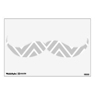 Gray and White Chevron Pattern 2 Wall Skin