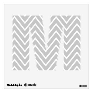 Gray and White Chevron Pattern 2 Wall Graphic
