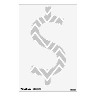 Gray and White Chevron Pattern 2 Wall Decals