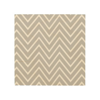 Gray and White Chevron Pattern 2 Wood Canvas