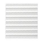 Gray and White Chevron Striped Scratch Pad