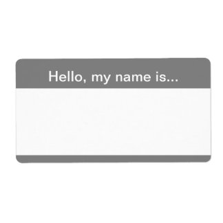 Gray and White Corporate Name Tag - Avery Label Shipping Label
