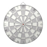 Gray And White Dartboard With Darts<br><div class='desc'>Gray And White Dart Board</div>