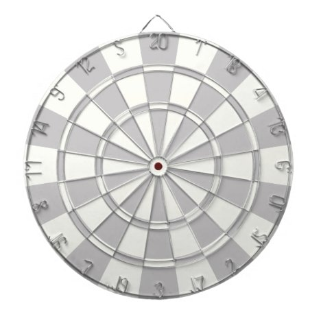 Gray And White Dartboard With Darts