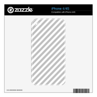 Gray and White Diagonal Stripes Pattern Decal For iPhone 4