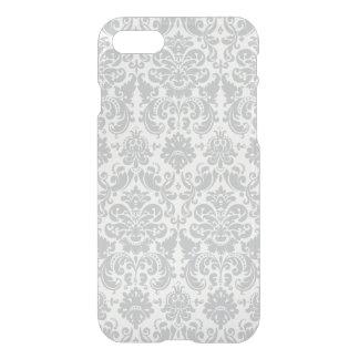 Gray and White Elegant Damask Pattern iPhone 8/7 Case