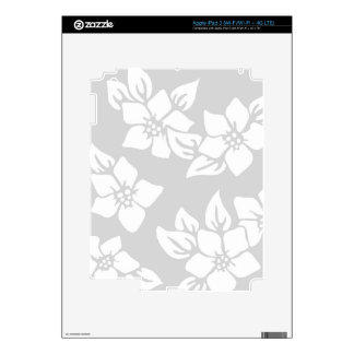 Gray and White Floral iPad 3 Decals