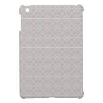 Gray and White Geometric Pattern iPad Mini Case