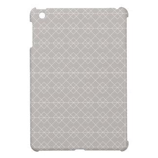 Gray and White Geometric Pattern iPad Mini Case