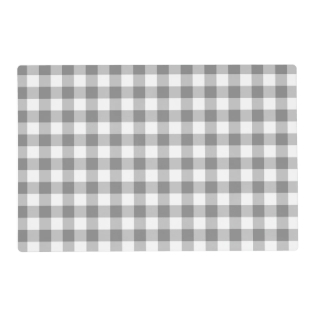Gray And White Gingham Check Pattern Placemat at Zazzle
