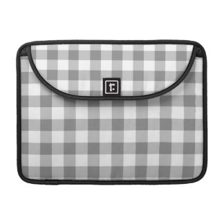 Gray And White Gingham Check Pattern Sleeve For MacBooks