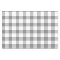 Gray And White Gingham Check Pattern Tissue Paper