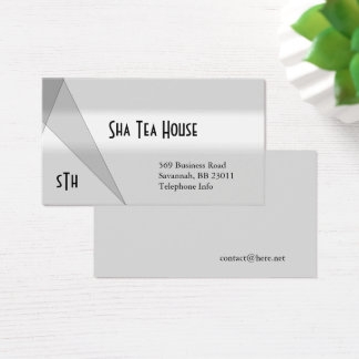 Gray and White Gray Geometric Business Card