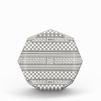 Gray And White Houndstooth With Spirals Award