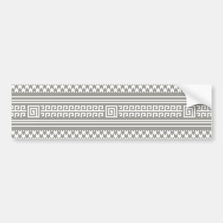 Gray And White Houndstooth With Spirals Bumper Stickers