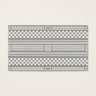 Gray And White Houndstooth With Spirals Business Card