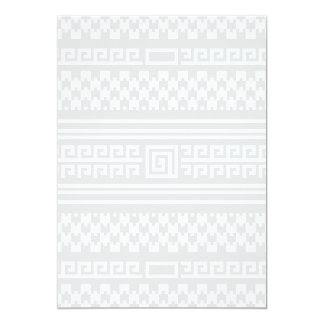 Gray And White Houndstooth With Spirals Card