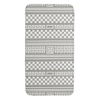 Gray And White Houndstooth With Spirals Galaxy S4 Pouch