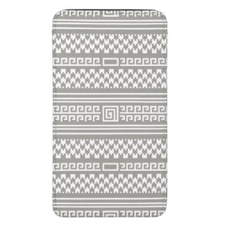 Gray And White Houndstooth With Spirals Galaxy S5 Pouch