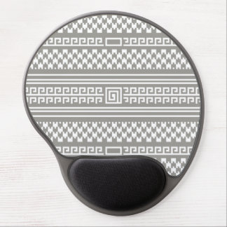 Gray And White Houndstooth With Spirals Gel Mouse Pad