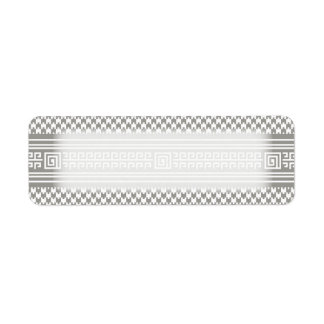 Gray And White Houndstooth With Spirals Label
