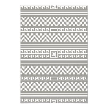 Aztec Themed Gray And White Houndstooth With Spirals Photo Print
