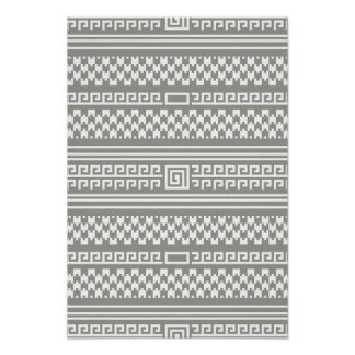 Gray And White Houndstooth With Spirals Poster