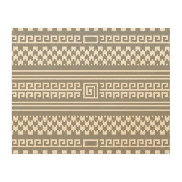 Aztec Themed Gray And White Houndstooth With Spirals Wood Print